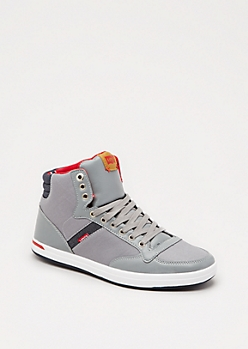 Gray High Top Sneaker by Levi
