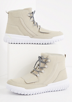 Gray Strapped High Top Sneaker