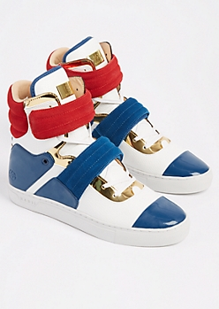 Americana Leather Cylinder Sneaker By Radii