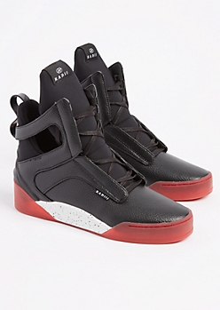 Prism Black Red Alert Sneaker By Radii