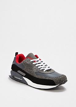 Gray Elephant Skin Sneaker