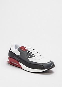 Burgundy Blocked Sneaker
