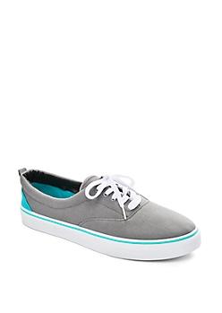 Grey Color Block Canvas Sneaker
