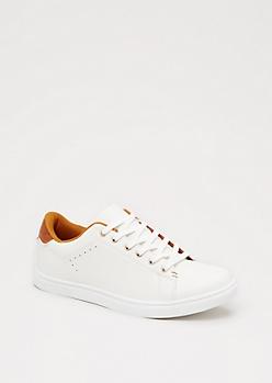 White Metal Grommet Sneaker