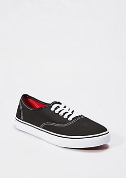 Classic Black Canvas Sneaker