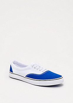 Blocked Canvas Low Top Sneaker