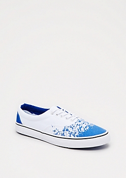Paint Splattered Low Top Sneaker