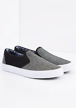 Marled Black Skate Shoe