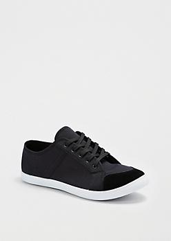 Black Canvas Low Top Sneaker