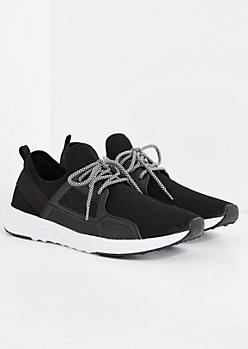 Black Knit Low Top Sneaker