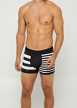 Black & White Striped Active Trunk