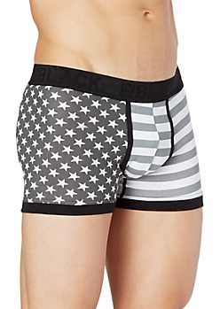 Grayscale Stars & Stripes Trunk