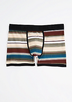 Striped Low Rise Boxer Briefs