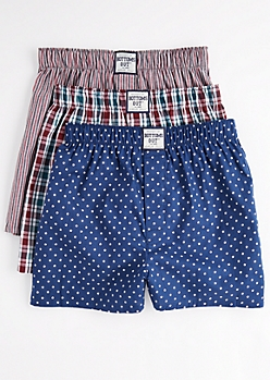 3-Pack Stars & Plaid Boxer