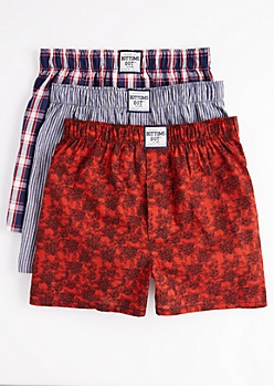 3-Pack Rose & Plaid Boxer