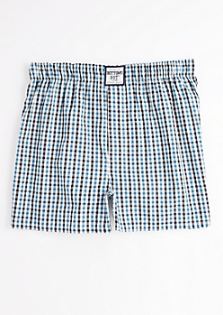 Blue & Black Buffalo Check Boxer