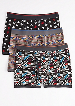 3-Pack Geo Tribal Boxer Brief