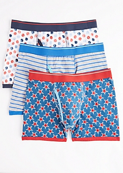 3-Pack Americana Stars & Stripes Boxer Brief