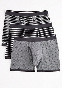 3-Pack Geo Striped Boxer Brief