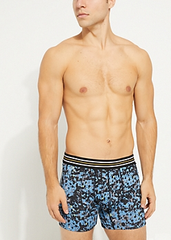 Blue Paint Splatter Active Boxer Brief