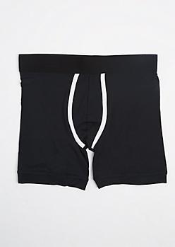 Black Soft Knit Boxer Brief
