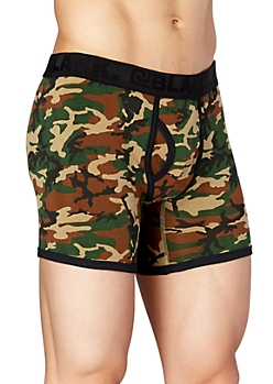 Green Camo Boxer Brief