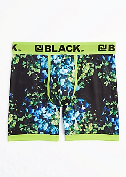 Neon Green Shattered Glass Active Boxer Brief