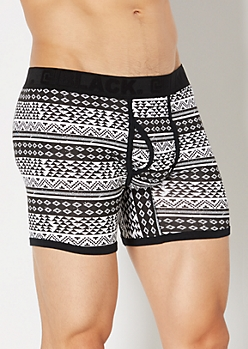 Black Aztec Boxer Briefs