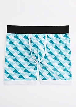 Teal Geo Active Boxer Brief