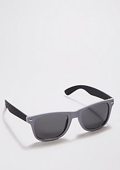 Grayscale Matte Retro Sunglasses
