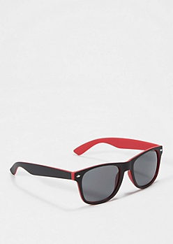 Black To Red Matte Sunglasses