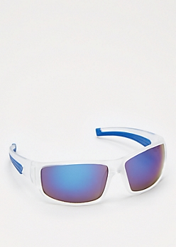 Clear Mirror Lens Sport Sunglasses