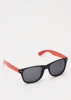 Red Retro Smoky Sunglasses
