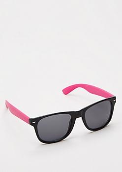 Pink Retro Smoky Sunglasses