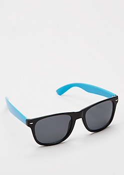 Blue Retro Smoky Sunglasses