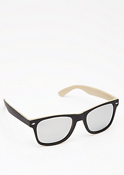Black & Sand Retro Sunglasses