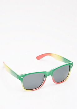 Rasta Ombre Retro Sunglasses
