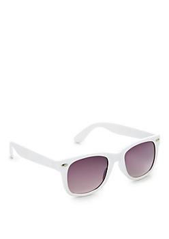 White Matte Retro Sunglasses