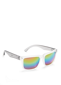 Rainbow Mirror Frosted Sunglasses
