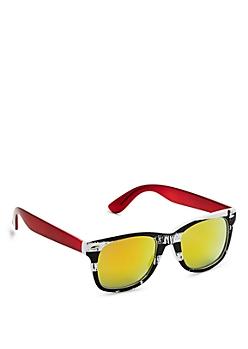 Striped Mirror Sunglasses