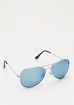 Blue Mirror Lens Aviators