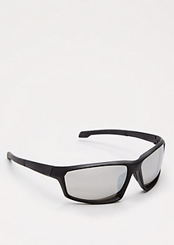 Black Mirror Lens Sport Sunglasses