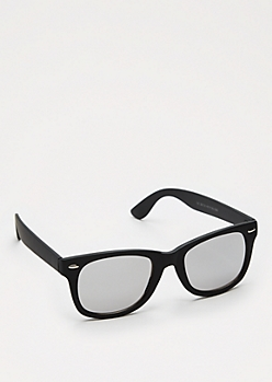 Mirror Lens Matte Retro Sunglasses