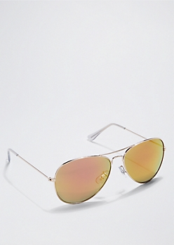 Red Mirror Lens Aviators