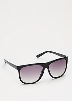 Smoky Lens Black Plastic Aviators