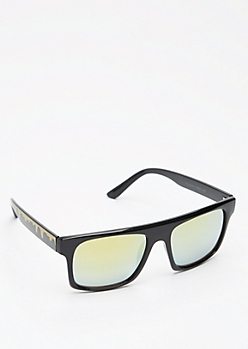Squared Paint Drip Sunglasses