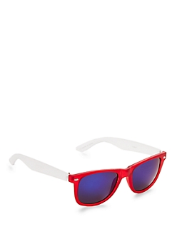 Retro Frosted Red Sunglasses