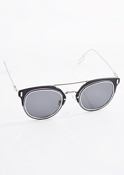 Black Wireframe Sunglasses