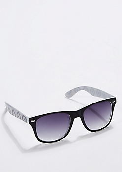 Gray Southwestern Retro Sunglasses