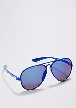 Blue Coated Mirror Lens Aviators